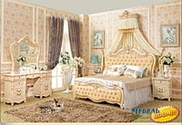 Кровать (изголовье натуральная кожа) NL- 801-2