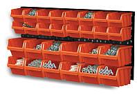 Стенд для инструментов Prosperplast черная 80x40см 2шт + 28 контейнеров ntbnp1