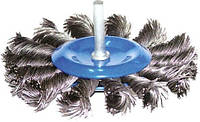 Щетка проволочная  с резьбой м14 проволока витая 125 мм сср-tos125