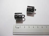 Обіймачі для шнурів 22мм, метал колір чорний 2 шт