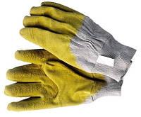 Перчатки резиновые желтые 411