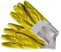 Перчатки резиновые нитриловые желтые