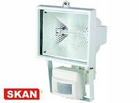 Прожектор с галогенными лампами 500Вт с датчиком движения, белый