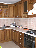 Кухня з дерева на замовлення Луцьк, дубові кухонні фасади, фасади з масиву вільхи, фото 1