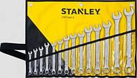 Ключи плоско-кольцевые, комплект 14 элем. 8,9,10,11,12,13,14,15,16,17,18,19,22,24 мм Stanley