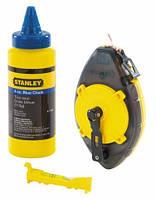 Шнур разметочный powerwinder 30 м + мел + уровень веревочный Stanley