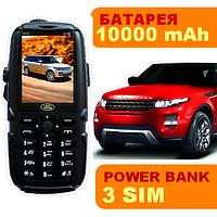 Противоударный телефон Land Rover S23,3 SIM,батарея 10000 мАН,заряжает другие устройства