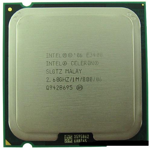 Процессор Intel Celeron Dual-Core E3400 2.60GHz/1M/800 (SLGTZ) s775, tray