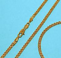 Набор:цепочка длинна 60,5 см.ширина 3 мм. и браслет длинна 20см.ширина 3мм. Позолота с лимонным оттенком