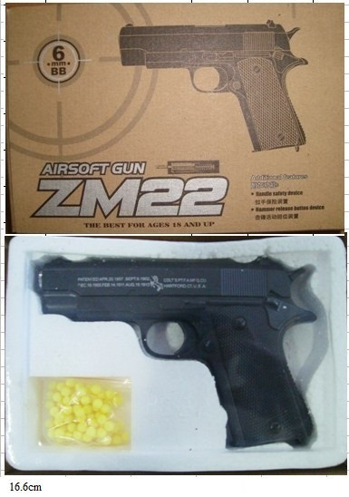 Пистолет метал-пластик ZM22 CYMA