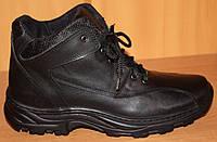 Ботинки зимние мужские на шнурках черные от производителя модель АМ300, фото 1