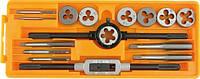 Метчики+плашки, комплект 16шт. 24295 Vorel