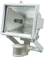 Прожектор с галогенными лампами 120 вт с датчиком движения, белый Vorel