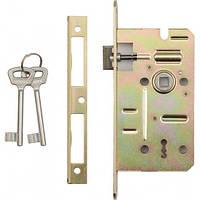Замок дверной 60/50мм на ключ (l,p)