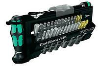 Wera tool-check plus набор сменных головок + биты + трещотка + держатель rapidator + ручка 28 элем. 1/4