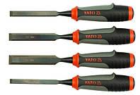 Yato стамески для дерева, комплект 10-12-16-20мм 6281