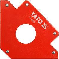 Yato угольник сварочный магнитный 102x155x17 мм 0864