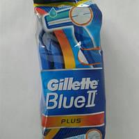 Станок мужской одноразовый для бритья Gillette Blue II Plus  8+2 шт. (Жиллет Блю ll), фото 1