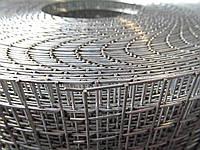 Сварная оцинкованная сетка для клеток. Ячейка: 12,5х12,5мм., Проволока: 1,2мм, Ширина: 1м.