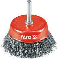 Yato Щетка чашечная 75мм, с хвостовиком, проволока, гофрированная - inox 4751