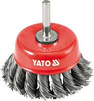 Yato Щетка чашечная 75мм, с хвостовиком, проволока витая, 4752