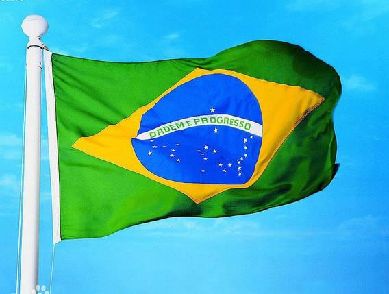 Национальный флаг Бразилии 60х90 см , фото 2