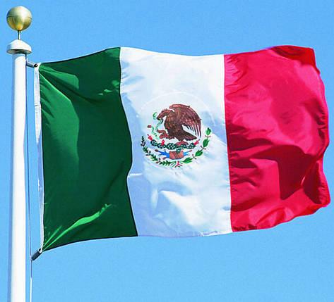 Национальный флаг Мексики 60х90 см , фото 2