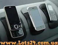 Липкий антискользящий силиконовый коврик - держатель телефона, GPS, ключей в авто (наноковрик)