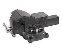Yato тиски слесарные поворотные 100 мм 6501