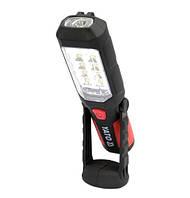 Yato фонарик 2in1 led, магнит на батарейках 3xaa 280 люмен