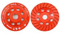 Yato Отрезной алмазный диск для шлифования бетона / камня turbo 125 мм