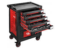 Yato шкаф переносной 7-ящиков + инструменты 165 элем. 55293