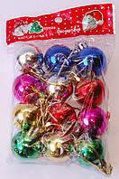 Набор новогодних елочных шаров. | Красный | Синий | Зеленый | Малиновый | Золото | Сереб