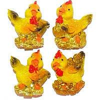 Магнит символ года 2017 цыпленок желтый (В наборе 21 шт.)