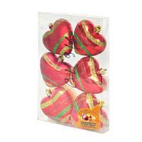 Набор ёлочных игрушек Сердечки GN916