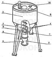 Бункер накопитель блока грануляции ОГМ-1,5