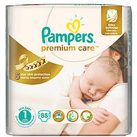 Подгузники Памперс Pampers Premium Care 1 (2-5 кг) - 88 шт