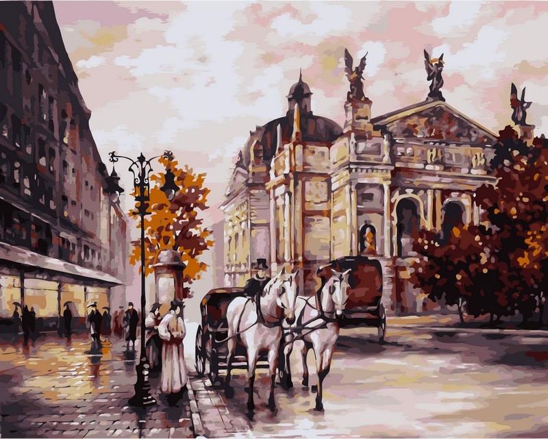 Картина по номерам 40×50 см. Львов Оперный театр