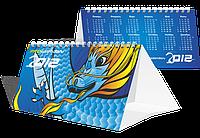 Настольные календари домик, 12 перекидных листов. Евро (210х100мм).Печать календарей от 10шт.