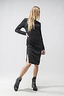 Платье трикотажное удлиненное