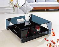 Стеклянный кофейный столик арт.012