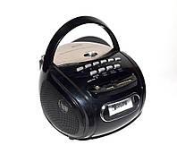 Бумбокс колонка караоке часы MP3 Golon RX 686Q Black