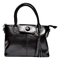 Прямоугольная женская сумка из натуральной кожи черного цвета YYT-002334