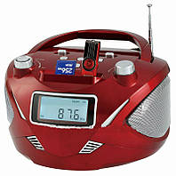Бумбокс колонка часы MP3 Golon RX 669Q Red