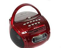 Бумбокс колонка караоке часы MP3 Golon RX 686Q Red, фото 1