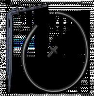 Капельница прикорневая угловая, отрезок трубки (50см), адаптер Bradas