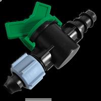 Старт-Коннектор для трубки с зажимной гайкой та миникраном Bradas