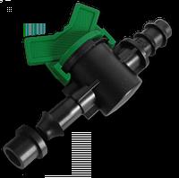 Старт-Коннектор для трубки с прокладкой и миникраном Bradas