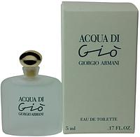 GIORGIO ARMANI ACQUA DI GIO edt 5 ml W туалетная вода мужская (оригинал подлинник  Франция)