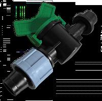 Старт-Коннектор лента/ трубка с прокладкой и миникраном Bradas